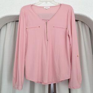 "Salmon Pink Dress Shirt By ""Mine"" Size XL"
